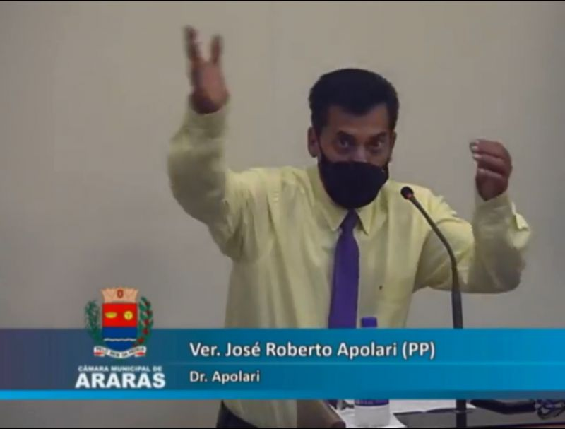 Vereador José Apolari deixa cargo de Líder de Governo em sessão da Câmara