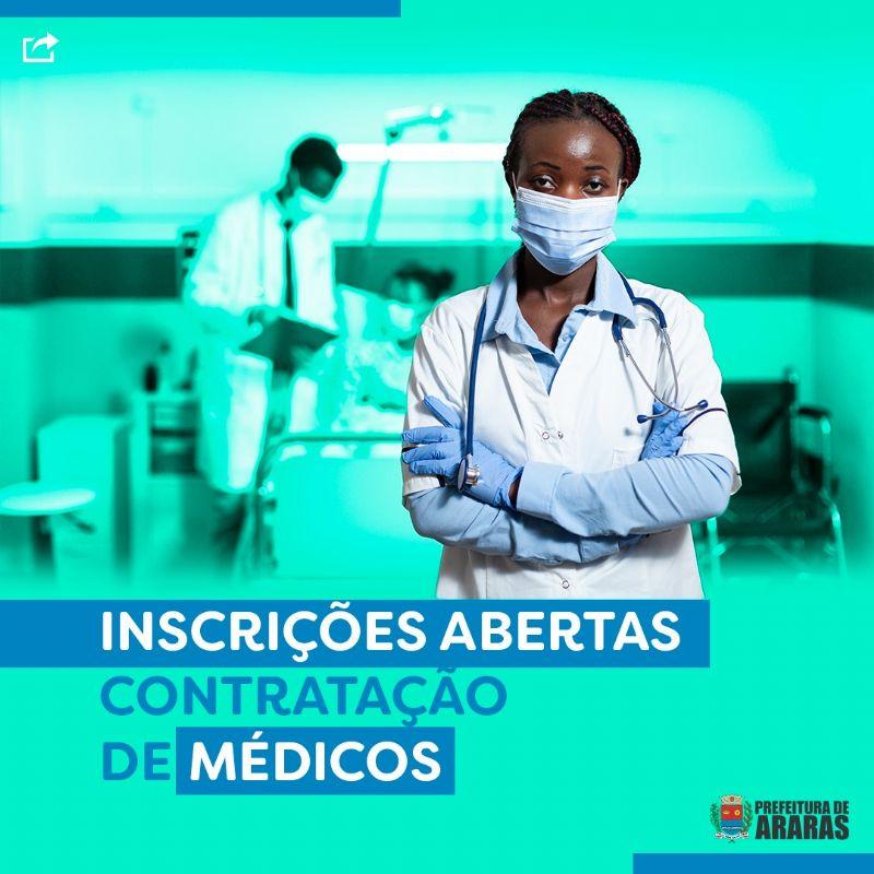 Prefeitura abre processo seletivo para contratação de médicos