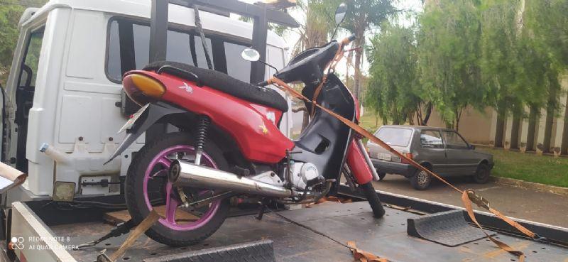 Guarda Civil Municipal apreende Honda Biz com placa de caminhão