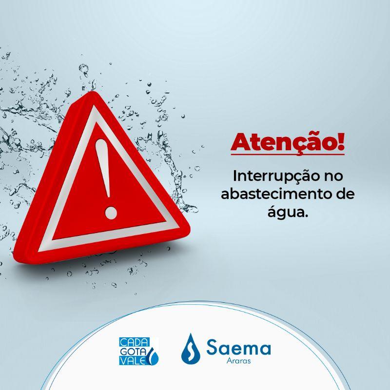 Devido um rompimento na rede  poderá ocorrer falta de água nos bairros Piratininga, São João e São Pedro nesta manhã de quinta-feira (14)